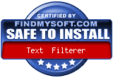 """Safe to Install"" sertificate from FindMySoft"